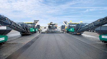 Asfalto nuevo para el aeropuerto de Francfort del Meno