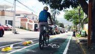Costa Rica construye ciclovía en San José