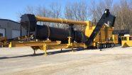 La planta de asfalto ADM EX120 ofrece tecnología contraflujo, tamaño compacto y fácil portabilidad