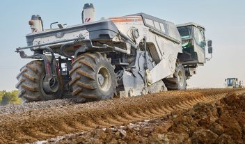 Wirtgen estabiliza una carretera en Indiana