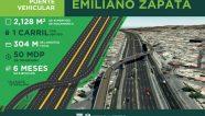 Ciudad de México construirá tres puentes vehiculares en puntos caóticos