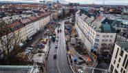 Construcción de vanguardia en el centro de Munich